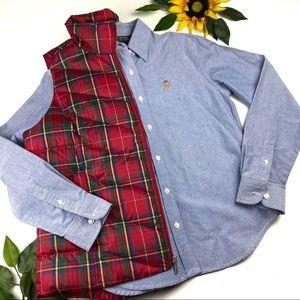 RALPH LAUREN Blue Denim Shirt Button Down